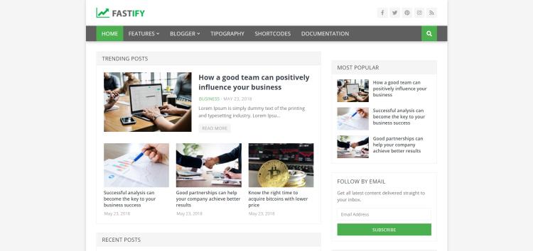 Fastify Шаблон для Сайтов о Криптовалюте