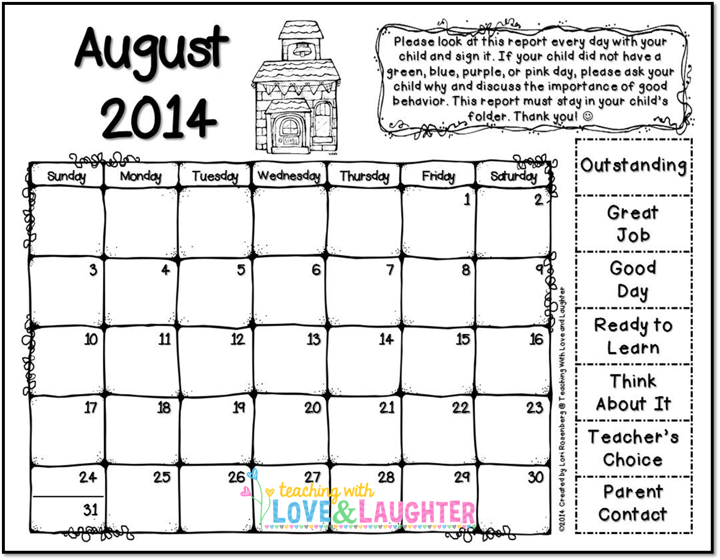 Teaching With Love And Laughter Clip Chart
