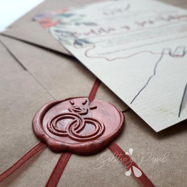 invitaciones de boda personalizadas con lacre