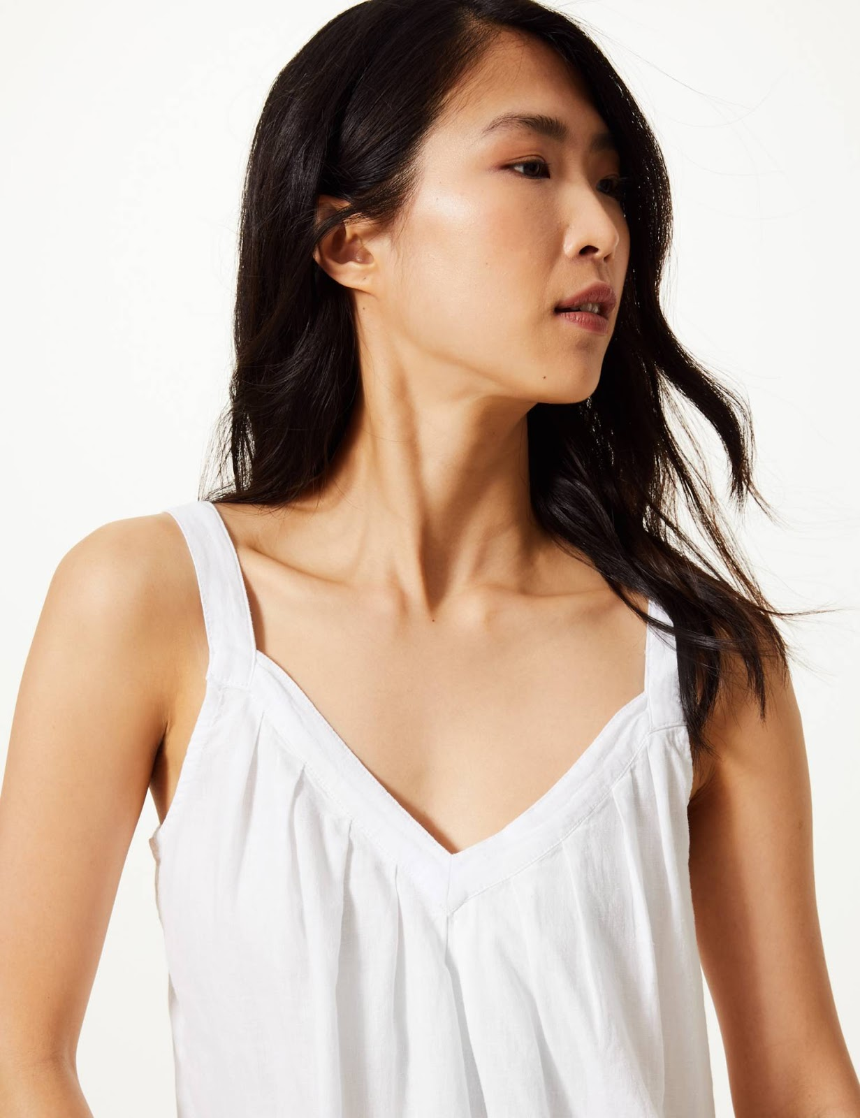 marks and Spencer linen rich camisole top