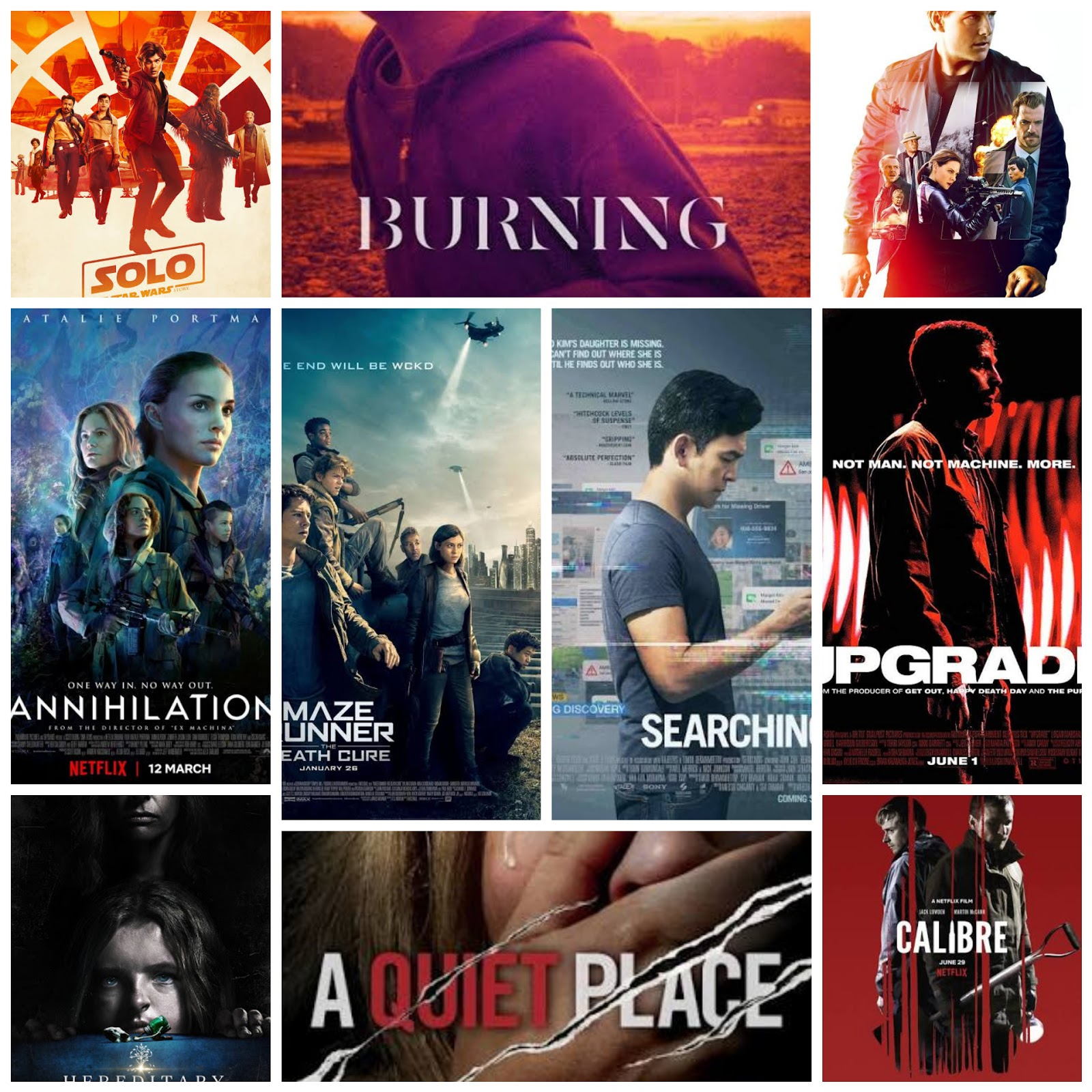 top rated thriller movies of 2018