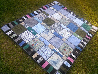 ProsperityStuff Nautical Quilt made from men's shirts