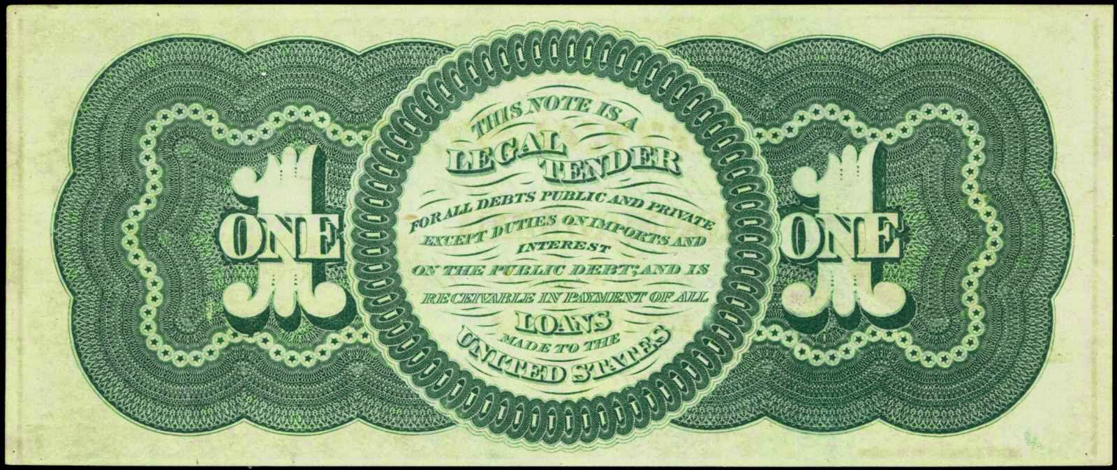 1862 1 Dollar Legal Tender Note