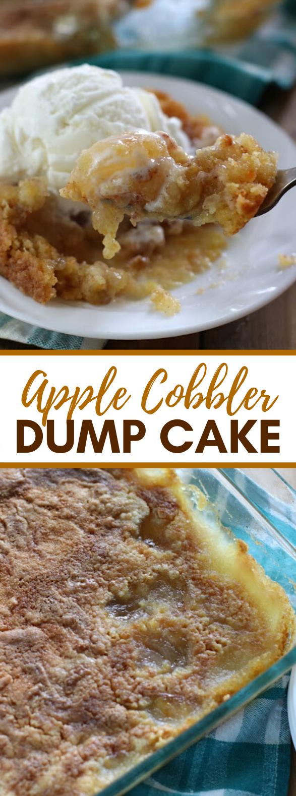 Apple Cobbler Dump Cake #desserts #fallrecipes