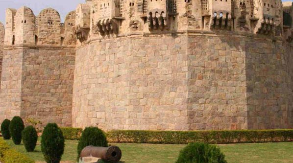 Outer wall of Golconda Fort