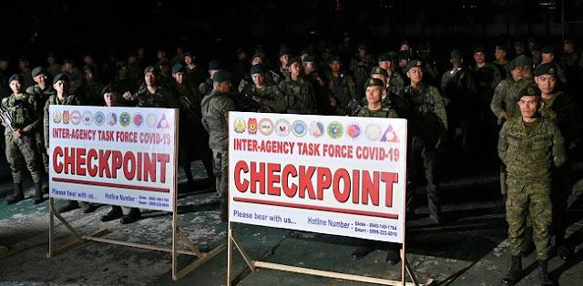 Isolasi Manila, Pertugas Bersenjata Dikerahkan Di Jalan-Jalan Masuk Utama