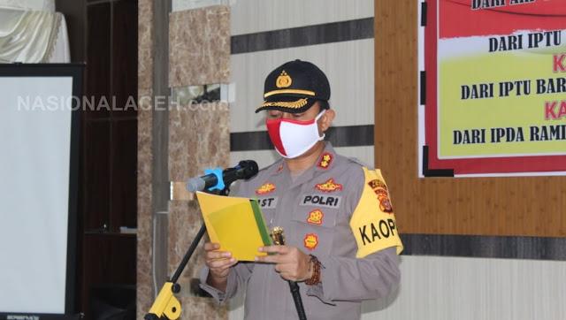 Rotasi Jabatan, Empat Kapolsek di Abdya Resmi Dilantik
