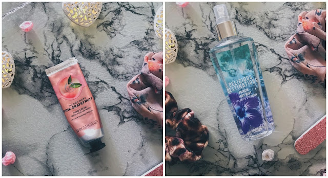 Body Shop Hand Cream & Superdrug Body Spray