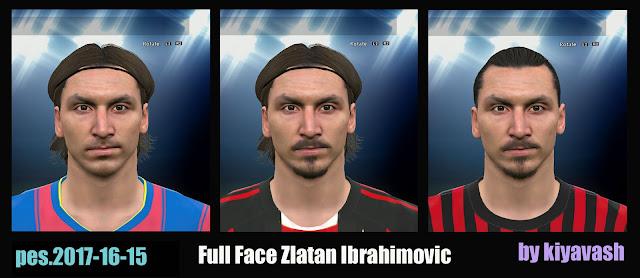 PES 2017 Ibrahimovic Face by kiyavash