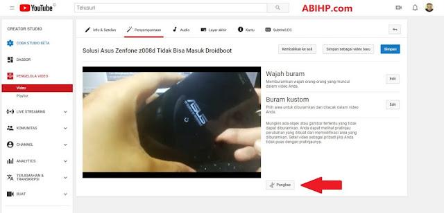 Cara potong video youtube yang sudah diupload