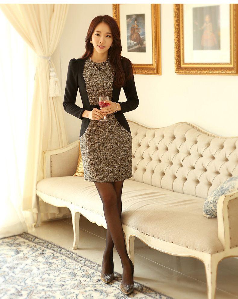 DRESS IMPORT KOREA STYLE - DRESS CANTIK READY STOCK