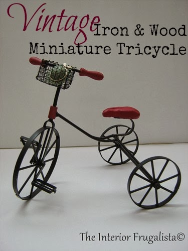 Miniature Iron and wood tricycle