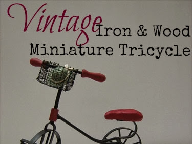 Vintage Iron & Wood Miniature Tricycle