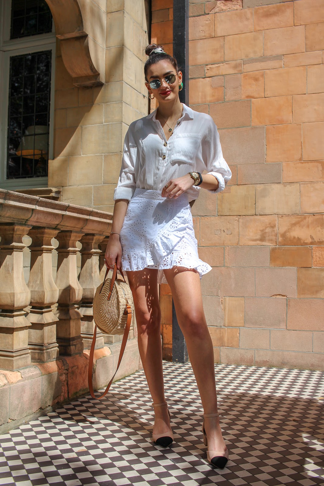 how to style white outfits summer