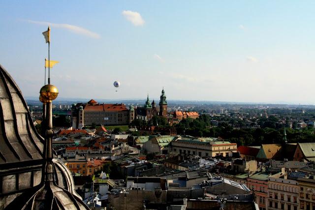 Vista aerea de Cracovia