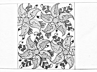 Khaka design drawing for hand embroidery design