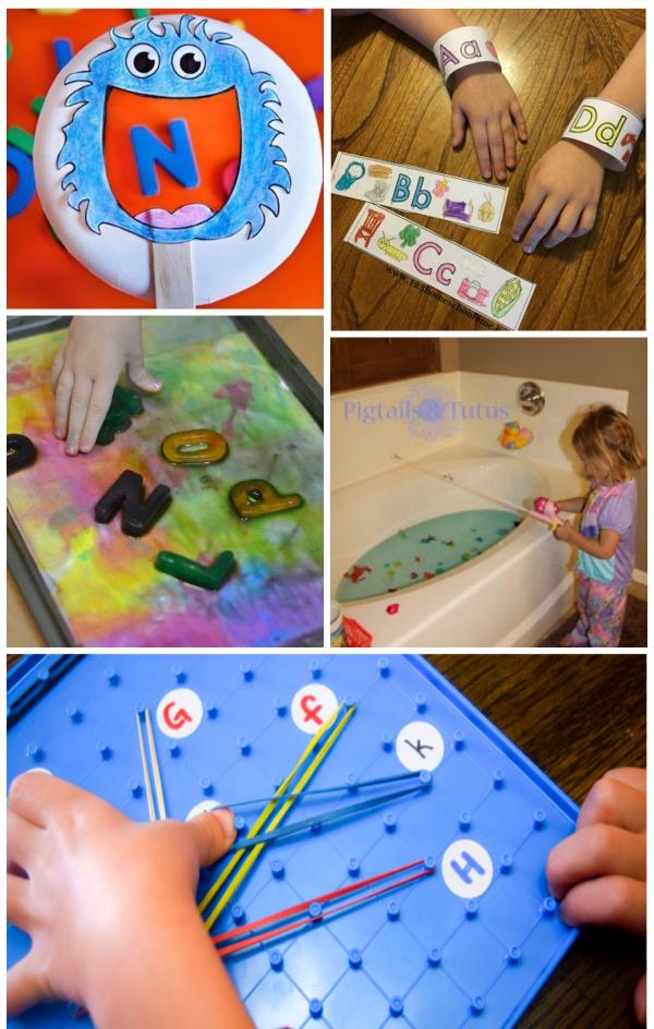 Fun & creative alphabet activities for kids! #alphabetactivities #alphabetcraftspreschool #preschoollearningactivities #growingajeweledrose