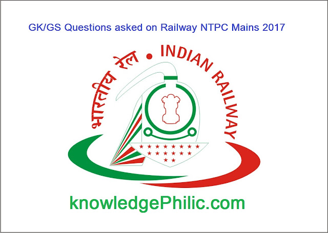 Questions asked on Railway [RRB] NTPC Mains 2016 on 18 January 2017 [All Shift]