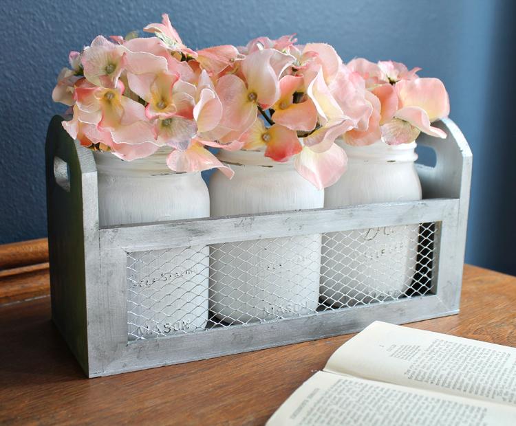 Mason Jar Decorations Pink Floral Mason Jars White Rustic Centerpiece