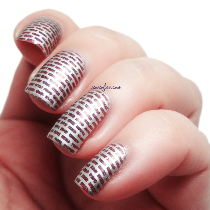 xoxoJen's swatch of Literary Lacquers Phoenix in Her Blood Nail Art