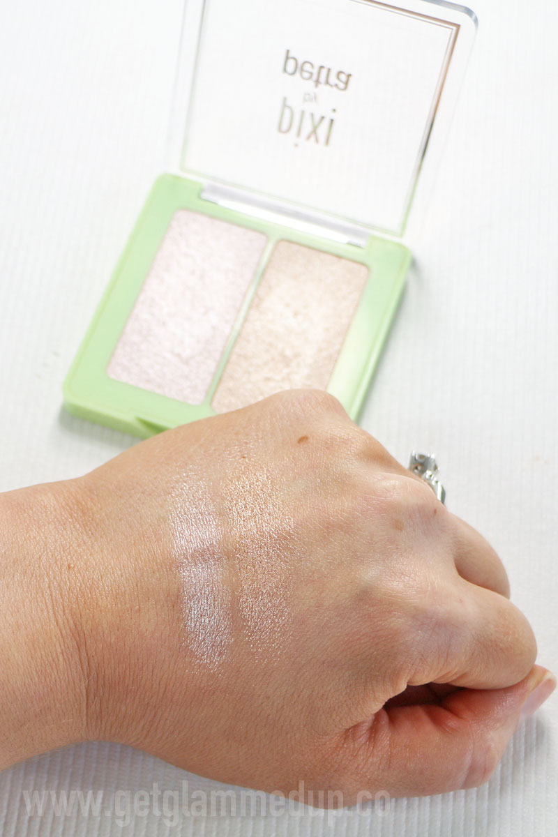Pixi Glowy Duo Subtle Sunrise Swatches