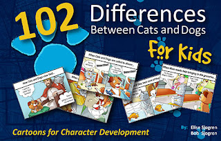 Cat and Dog Theology Cartoon Book for Kids-102 Differences Between Cats and Dogs