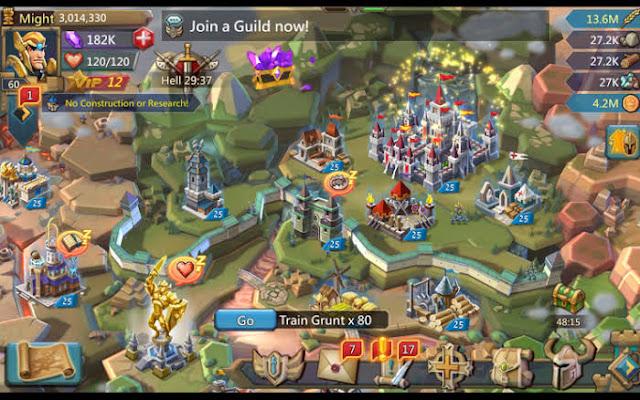 Baixar - Lords Mobile v1.64 Apk Mod [Dinheiro Infinito e Gemas Infinitas]