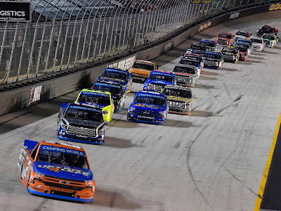 The field during the #NASCAR Camping World Truck Series UNOH 200 presented by Ohio Logistics at Bristol Motor Speedway