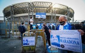 El estadio San Paolo de Nápoles en pocas semanas Diego Armando Maradona.
