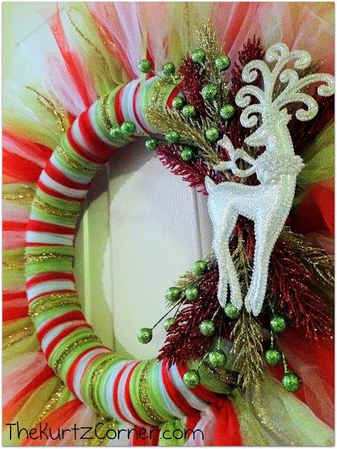 Guirnaldas de Navidad con tul y lazo