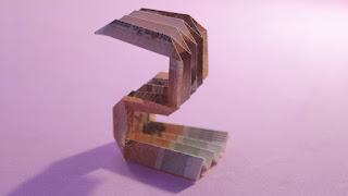 origami money | 3d origami number 2 ( Jo Nakashima ) hướng dẫn cách gấp số 2 bằng tiền giấy