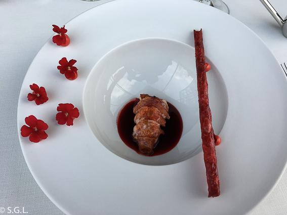 Bogavante asado en Azurmendi. Una experiencia gastronomica