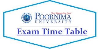 Poornima University Date Sheet 2020