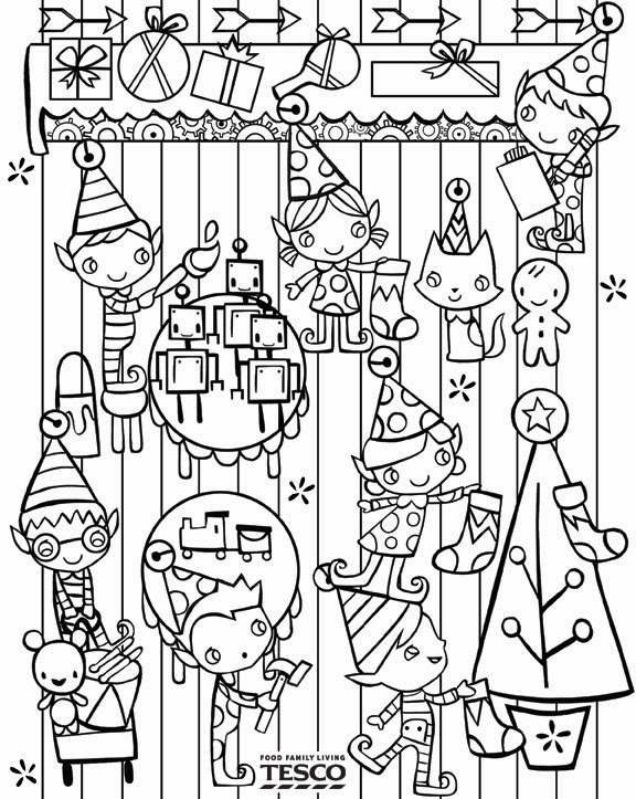 Katie Wood Illustrations: Christmas colouring