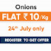 Big Bazaar Loot – Onions @ Flat ₹10/kg | 24th July , Miss Call Now