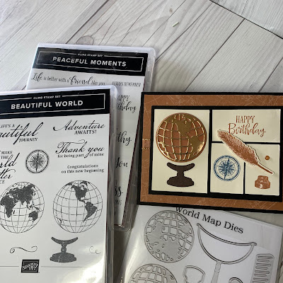 Masculine Birthday Card and stamp sets and dies used to create the card