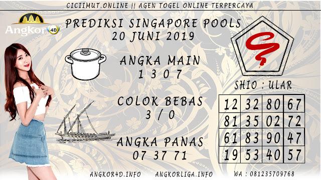 PREDIKSI SINGAPORE POOLS 20 JUNI 2019