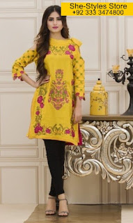 Veena Durrani Luxury Embroidered Tunic 2017 vol 5 by Zohan Textiles