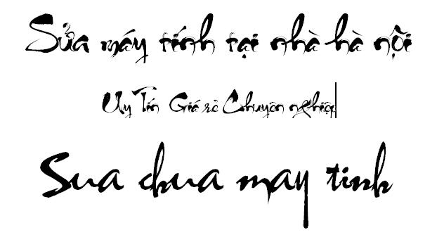 Bộ font chữ thư pháp Full