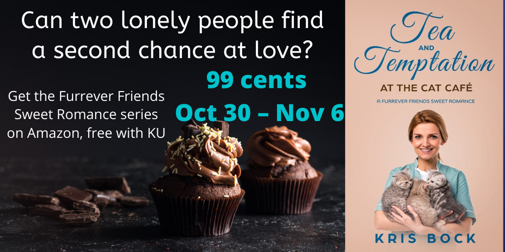 #99c sale: Tea and Temptation at the Cat Café: A #SweetRomance #MFRWorg #Romance