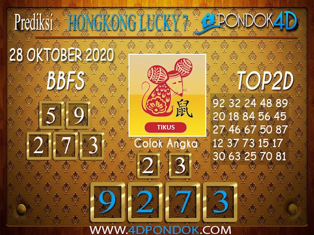 Prediksi Togel HONGKONG LUCKY 7 PONDOK4D 28 OKTOBER 2020