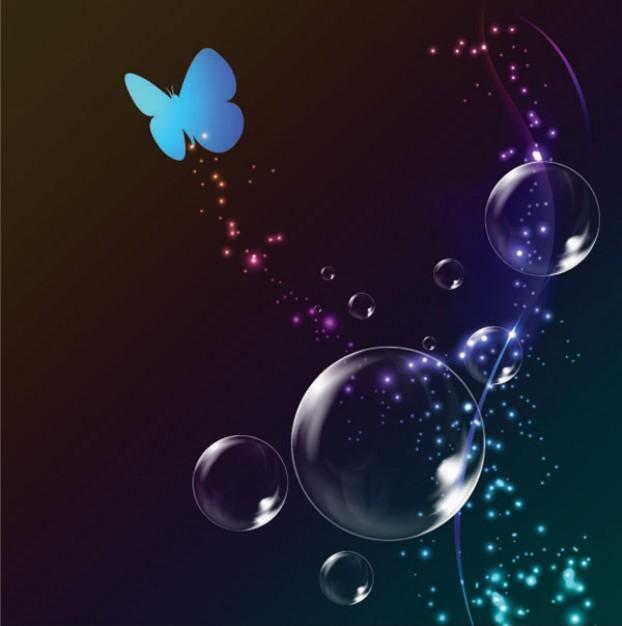 Letras Con Alma Y Corazón Volando Entre Burbujas