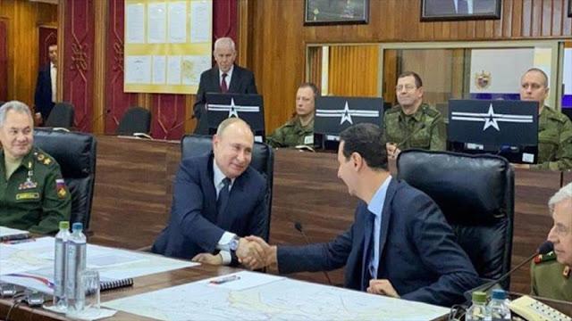 Putin se reúne con Bashar al-Asad en una visita sorpresa a Siria