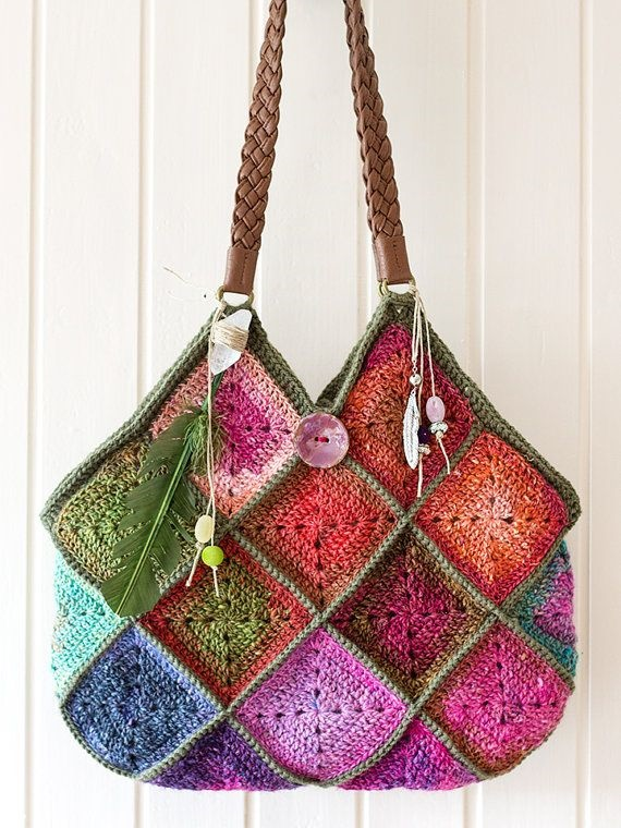 Life Of Kris Price Boho Squares Crochet Bag