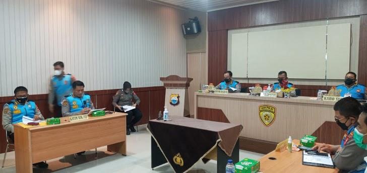 Wakapolda Sulsel, Pimpin Rapat Hasil Rikmin Akhir Casis Bintara dan Tamtama Penerimaan Terpadu Anggota Polri TA. 2021