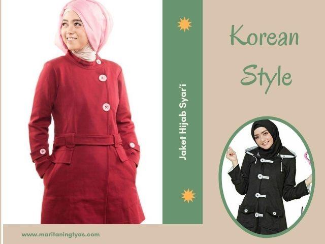 jaket hijab korean style