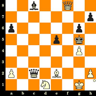 Les Blancs jouent et matent en 3 coups - Rodolfo Kalkstein vs B Rometti, Tel Aviv, 1964