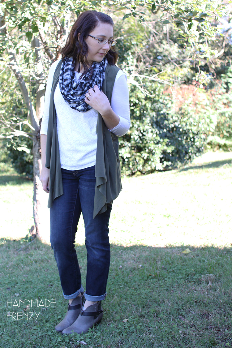 Canyon Cardigan & 1 yard knit Infinity Scarf // Sewing For Women
