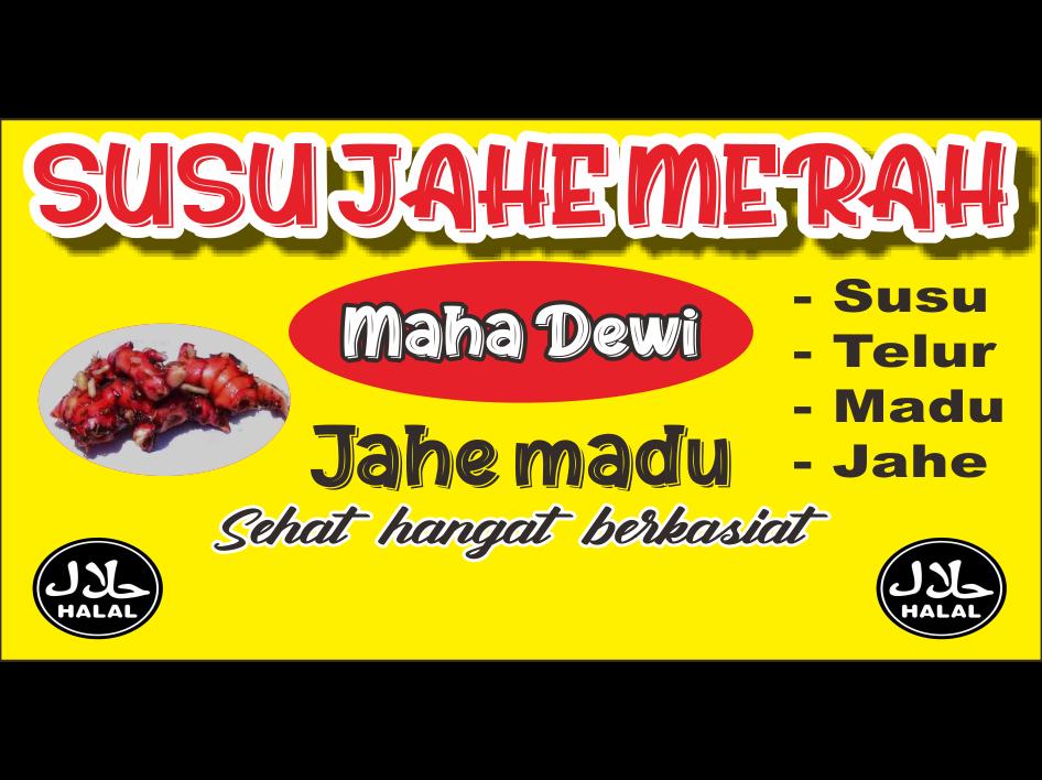 Download Desain Banner Susu Jahe Merah Format CDR, SVG, AI ...