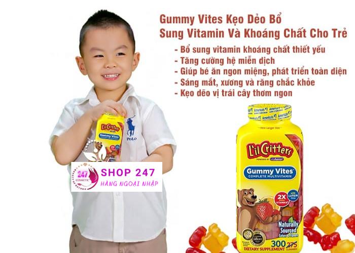 GUMMY VITES BỔ SUNG DƯ LƯỢNG VITAMIN